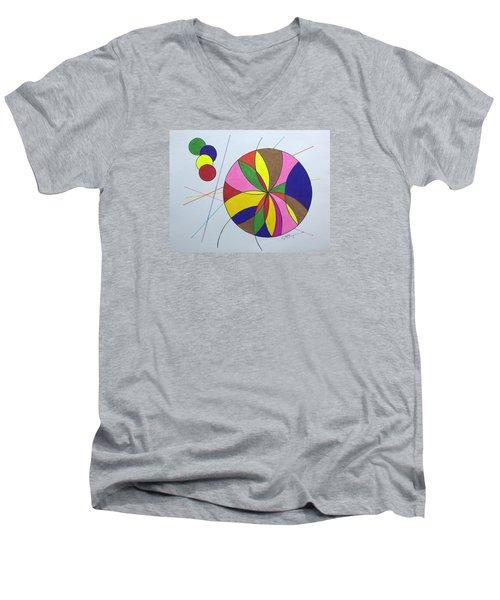 Beach Ball Time Men's V-Neck T-Shirt