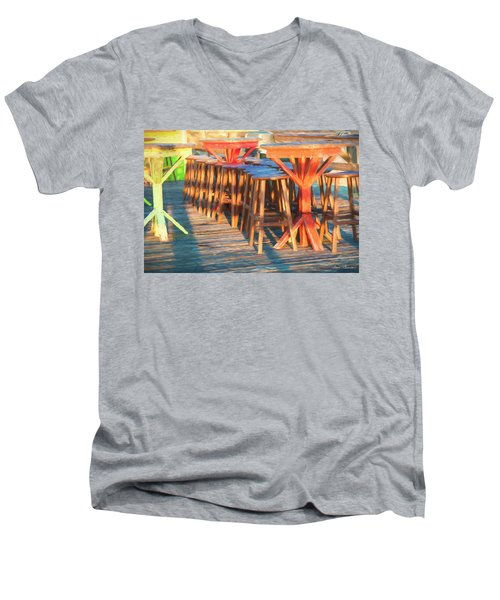 Beach Bar Morning Men's V-Neck T-Shirt