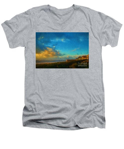 Beach Beauty  Men's V-Neck T-Shirt