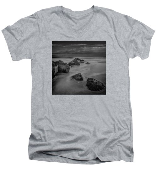 Beach Boulders Men's V-Neck T-Shirt