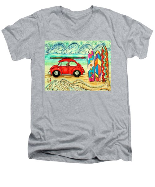 Beach Bug Men's V-Neck T-Shirt