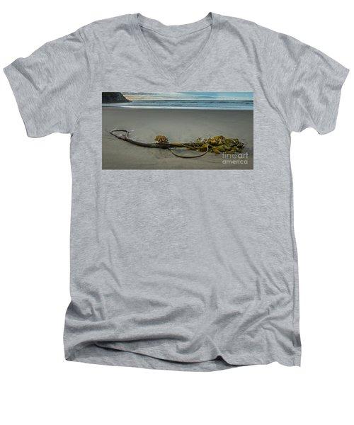 Beach Bull Kelp Laying Solo Men's V-Neck T-Shirt