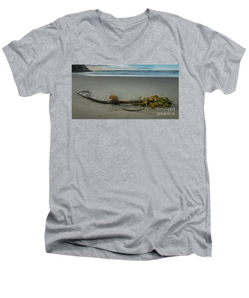 Beach Bull Kelp Laying Solo Men's V-Neck T-Shirt