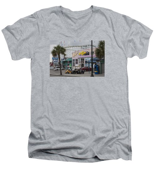 Beach Bums - Myrtle Beach South Carolina Men's V-Neck T-Shirt by Suzanne Gaff