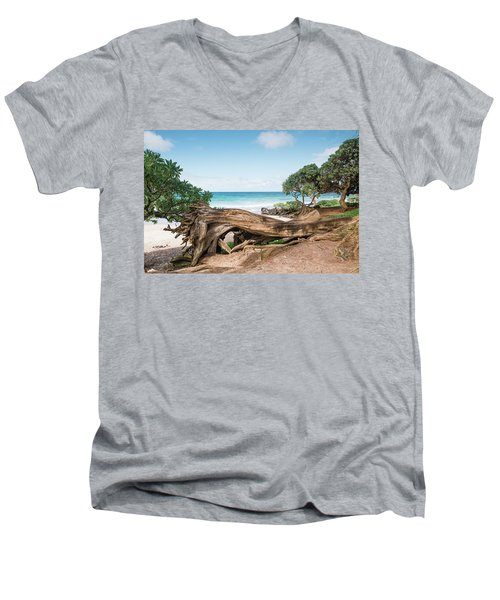 Beach Camping Men's V-Neck T-Shirt