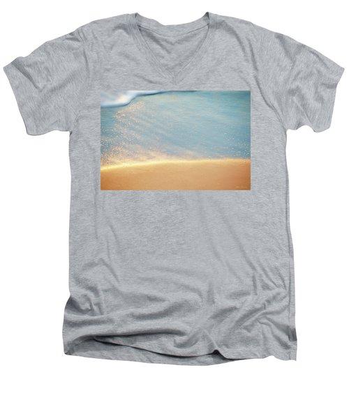 Beach Caress Men's V-Neck T-Shirt by Glenn Gemmell