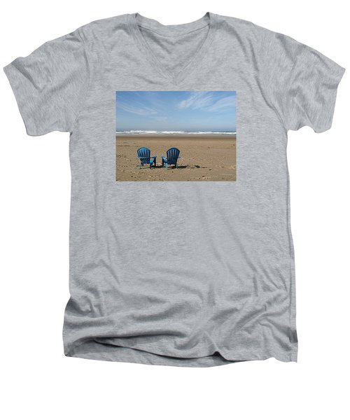 Beach Chair Pair Men's V-Neck T-Shirt