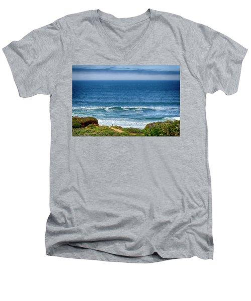 Beach Cloud Streak Men's V-Neck T-Shirt
