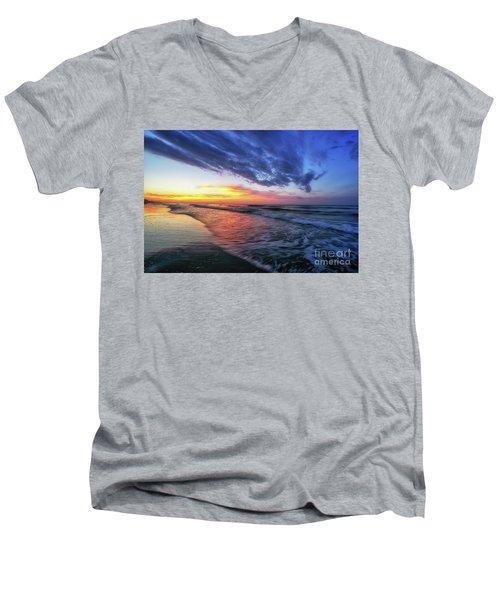 Beach Cove Sunrise Men's V-Neck T-Shirt