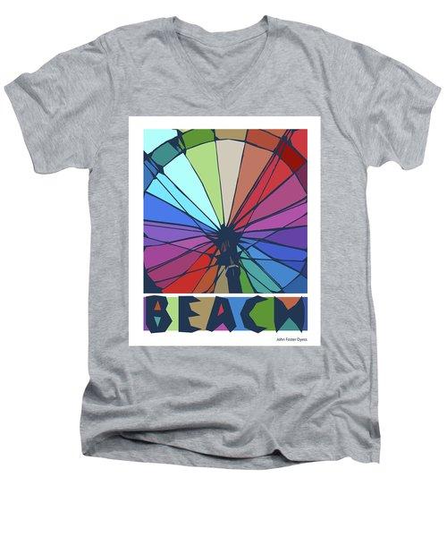 Beach Design By John Foster Dyess Men's V-Neck T-Shirt