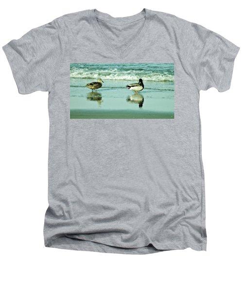 Beach Ducks Men's V-Neck T-Shirt