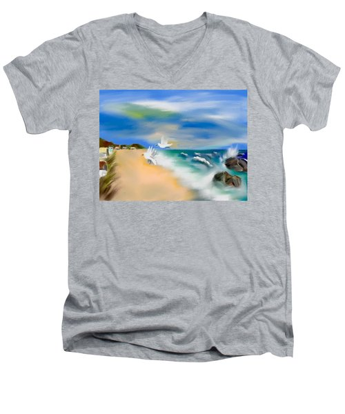 Beach Energy Men's V-Neck T-Shirt