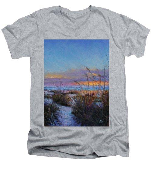 Beach Escape Men's V-Neck T-Shirt