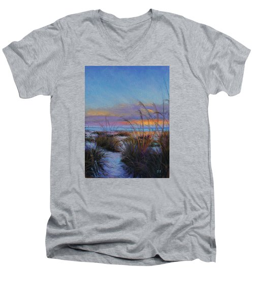 Beach Escape Men's V-Neck T-Shirt