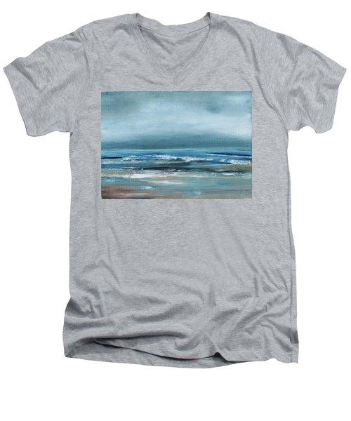 Beach Exercise Men's V-Neck T-Shirt