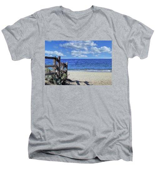 Beach Fence Men's V-Neck T-Shirt
