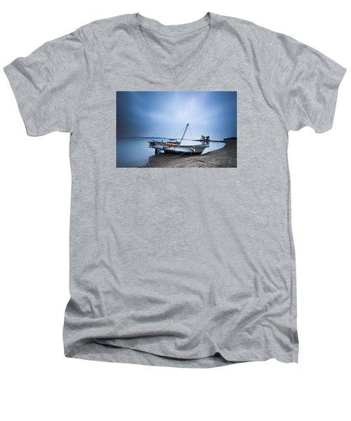 Beach Fishing Boat Men's V-Neck T-Shirt