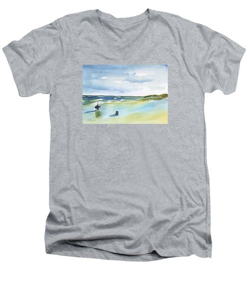 Beach Fishing Men's V-Neck T-Shirt