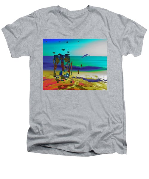Beach Geometry  Men's V-Neck T-Shirt