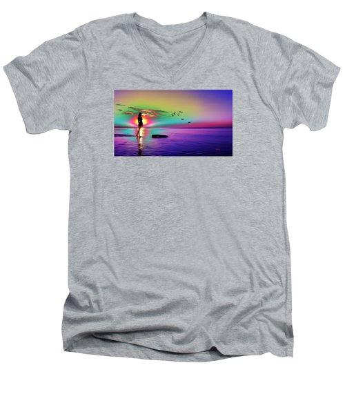 Beach Girl 3 Men's V-Neck T-Shirt