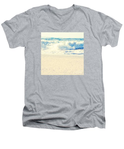 Men's V-Neck T-Shirt featuring the photograph Beach Gold by Sharon Mau