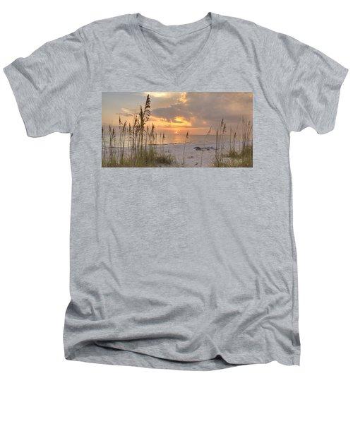 Beach Grass Sunset Men's V-Neck T-Shirt