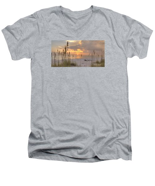 Beach Grass Sunset Men's V-Neck T-Shirt