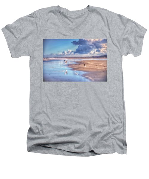 Beach Gulls Men's V-Neck T-Shirt