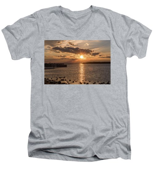 Beach Haven Nj Sunset January 2017 Men's V-Neck T-Shirt