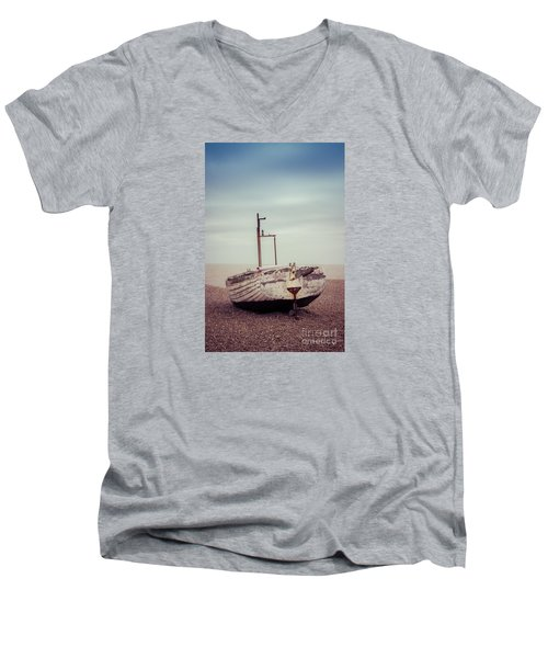 Beach Home Men's V-Neck T-Shirt by David Warrington