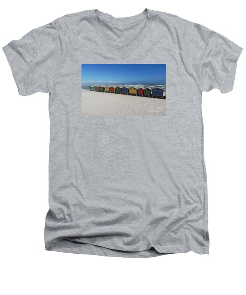 Beach Houses Men's V-Neck T-Shirt by Bev Conover