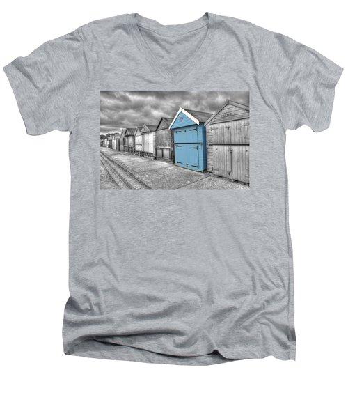Beach Hut In Isolation Men's V-Neck T-Shirt