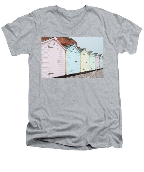 Beach Huts Vi Men's V-Neck T-Shirt