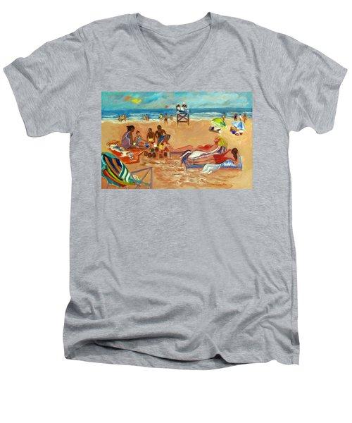 Beach In August Men's V-Neck T-Shirt