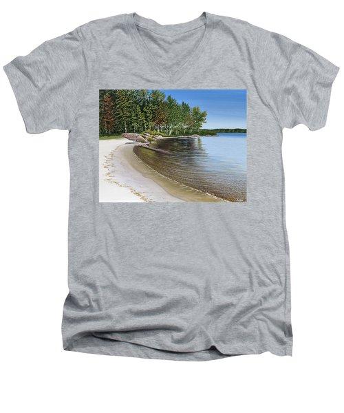 Beach In Muskoka Men's V-Neck T-Shirt