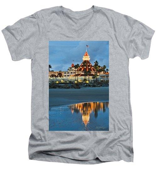 Beach Lights Men's V-Neck T-Shirt