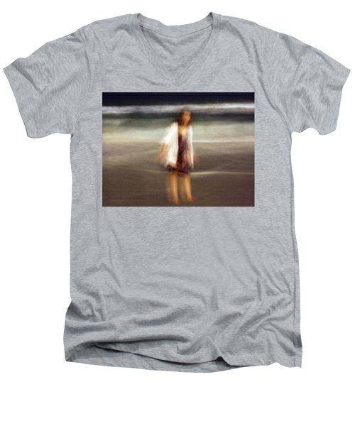 Beach Night 3 Men's V-Neck T-Shirt