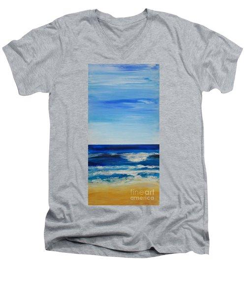 Beach Ocean Sky Men's V-Neck T-Shirt