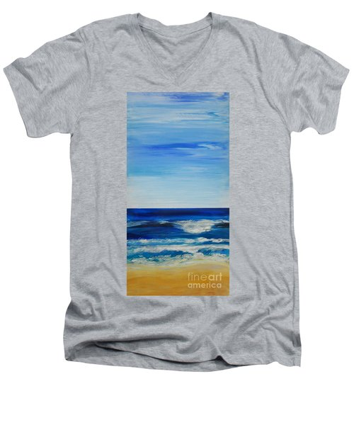 Beach Ocean Sky Men's V-Neck T-Shirt
