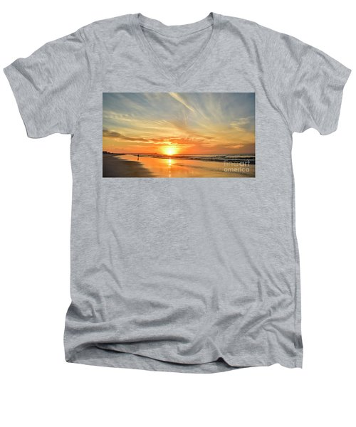 Beach Of Gold Men's V-Neck T-Shirt