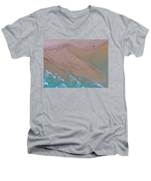 Beach Patterns At North Point On Moreton Island Men's V-Neck T-Shirt