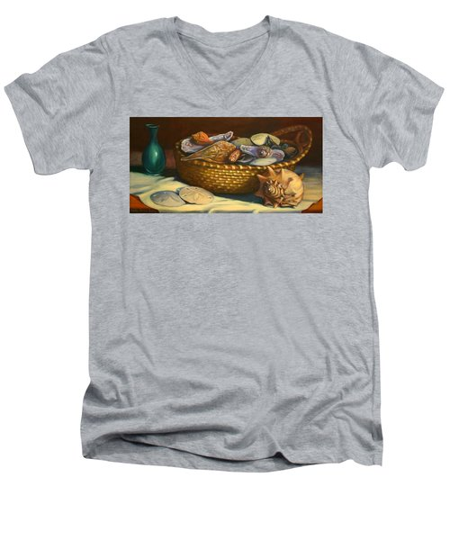 Beach Peace Men's V-Neck T-Shirt by Dorothy Allston Rogers