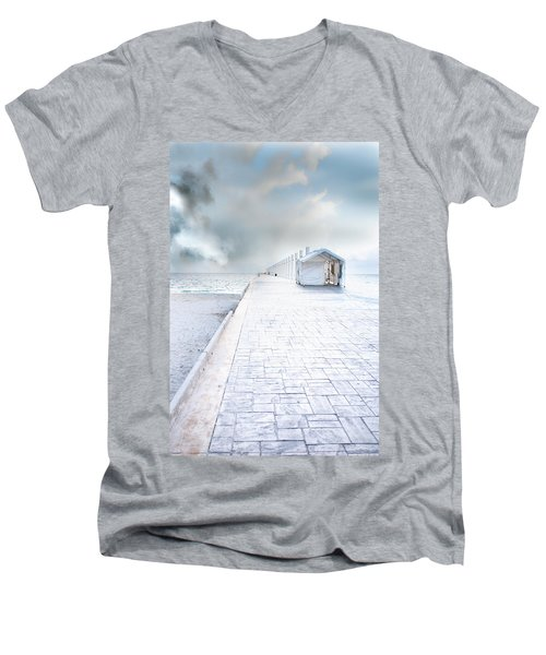 Beach Pier Men's V-Neck T-Shirt
