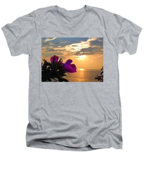 Beach Roses Men's V-Neck T-Shirt