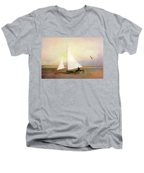 Beach Sailing Men's V-Neck T-Shirt