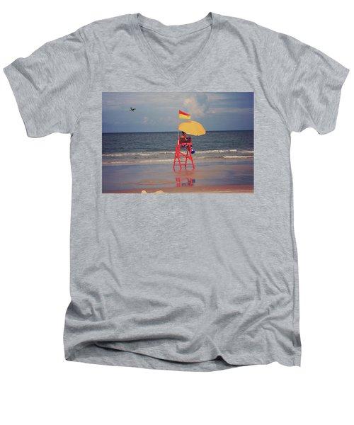 Beach Sentinel Florida Men's V-Neck T-Shirt
