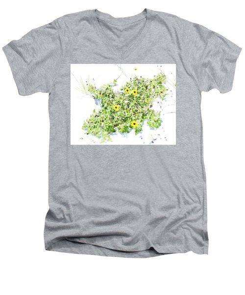 Beach Sun Flowers Men's V-Neck T-Shirt