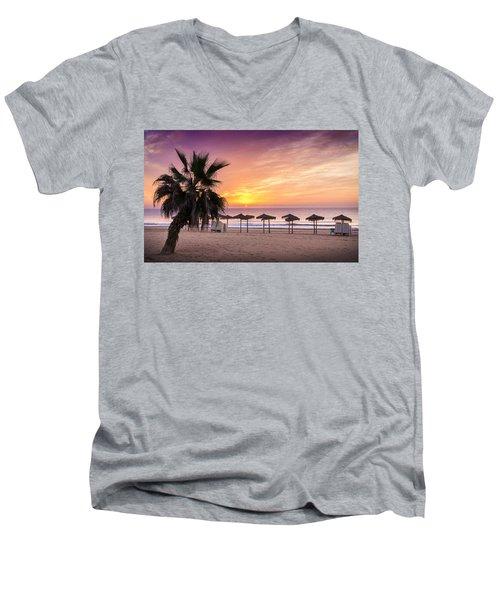 Beach Sunrise. Men's V-Neck T-Shirt