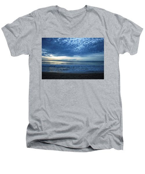 Beach Sunset - Blue Clouds Men's V-Neck T-Shirt