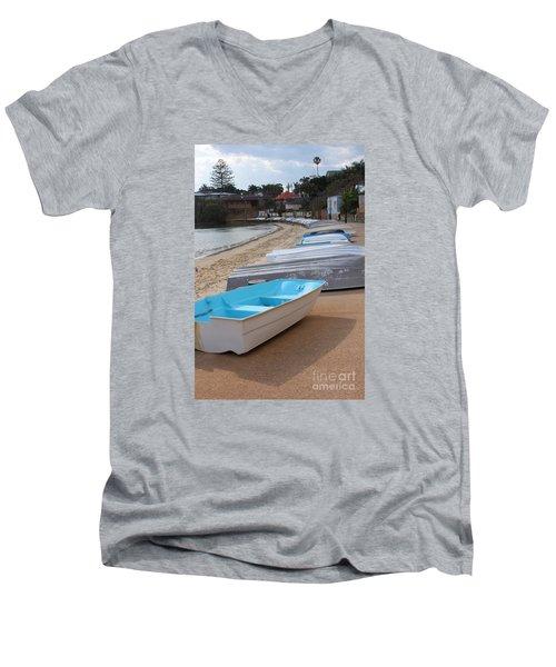 Beached Boats Men's V-Neck T-Shirt